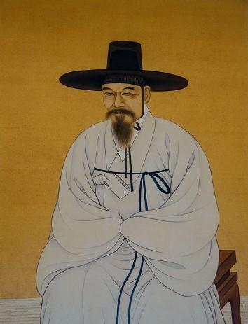 진도 운림사에 있는 '소치 허련 초상화' (그림출처 네이버포토)